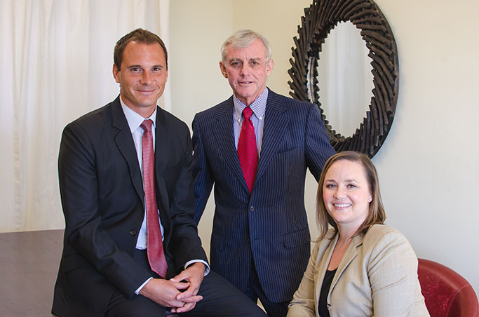 Attorneys Aris Karakalos, Anthony Strauss and Amy Dilbeck Kiesewetter
